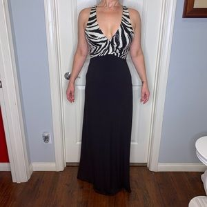 Black and white evening gown!